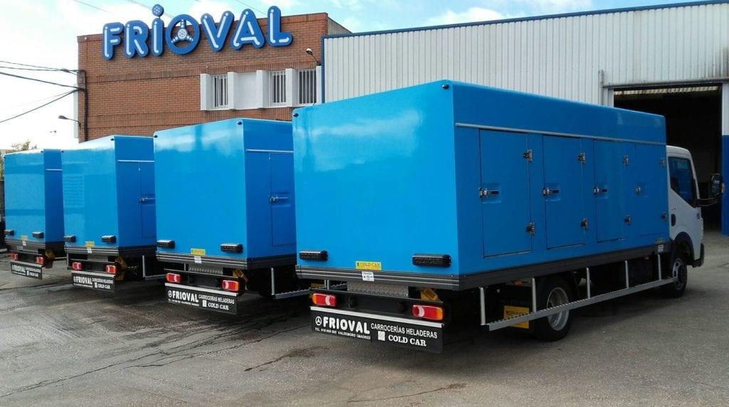 Camiones con carrocerías heladeras Madrid