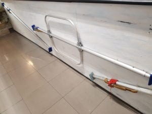 barras de sujeción de carga.