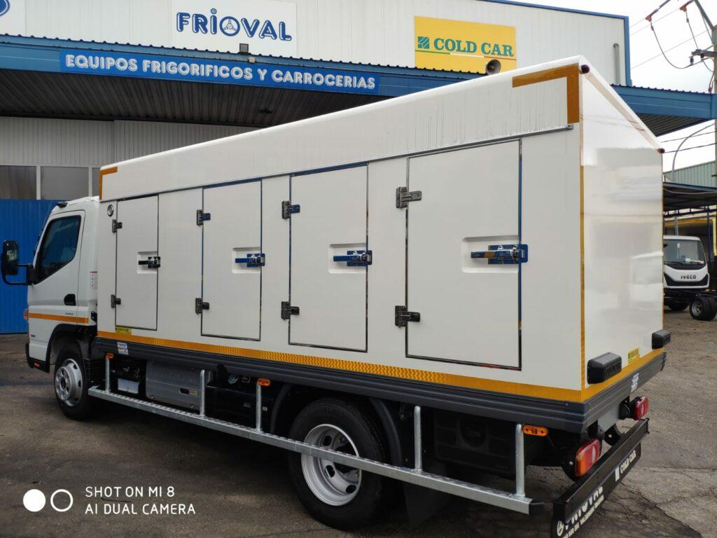 Cold Car de 8 portillos, con 3 temperaturas, ISOTERMO/REFRIGERADO/CONGELACION, posibilidad de modificar uso según necesidades.